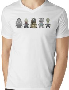 Doctor Who Monsters Mens V-Neck T-Shirt