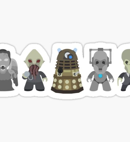 Doctor Who Monsters Sticker
