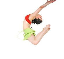 Young female modern dancer On white Background by PhotoStock-Isra