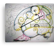 Nude Violin Concert Canvas Print