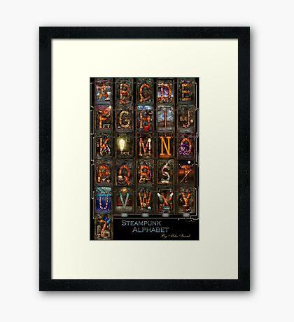 Steampunk - Alphabet - Complete Alphabet Framed Print