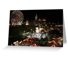 Edinburgh at Christmas and New Year Greeting Card