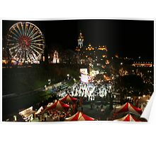 Edinburgh at Christmas and New Year Poster
