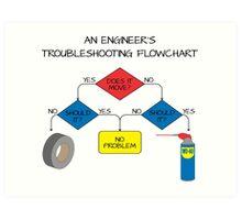 Engineering Flowchart Art Print