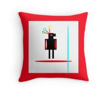 RED FEATHER, abstract figure Throw Pillow