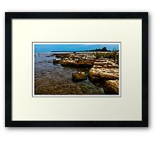 Rock Beach at Selkirk Provincial Park - www.jbjon.com Framed Print