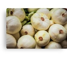 Farmers Market White Onions Canvas Print