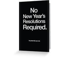New Year's Resolution Greeting Card