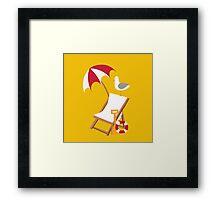 Block Yellow Seagulls Framed Print