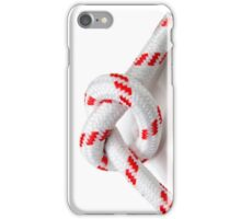 Overhand Knot on white background iPhone Case/Skin