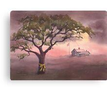 TIE a YELLOW RIBBON by SHARON SHARPE Canvas Print