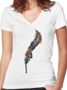 Artificial Death Women's Fitted V-Neck T-Shirt