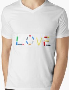 Love written with a child's colourful building blocks Mens V-Neck T-Shirt