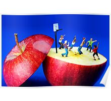 Basketball Games On The Apple Poster