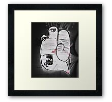 Handy the Graffiti Monster Framed Print