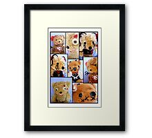Bad Teddy's Framed Print