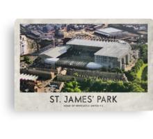 Vintage Football Grounds - St James' Park (Newcastle United FC) Canvas Print
