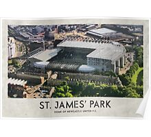 Vintage Football Grounds - St James' Park (Newcastle United FC) Poster