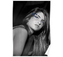 Farfalla Blu Poster