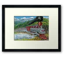 Steam Train Framed Print