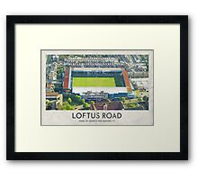 Vintage Football Grounds - Loftus Road (Queens Park Rangers FC) Framed Print