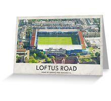 Vintage Football Grounds - Loftus Road (Queens Park Rangers FC) Greeting Card