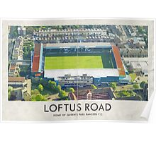 Vintage Football Grounds - Loftus Road (Queens Park Rangers FC) Poster