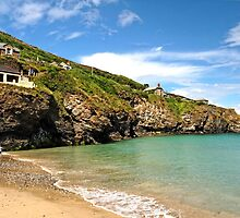 Rocky Cliff Face of Trevaunance Cove by Rod Johnson