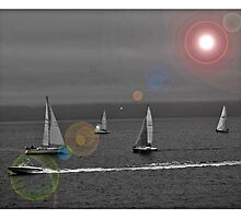 Sailing in Bras D'Or Lake, Nova Scotia - www.jbjon.com by Jonathan Baldock