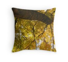 Holding Gold Throw Pillow