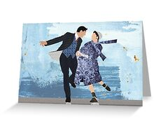 Swept off my feet Greeting Card