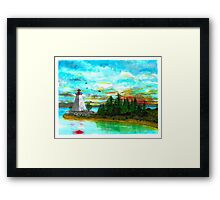 Kidston Island Lighthouse - www.jbjon.com Framed Print