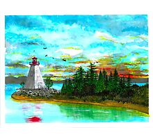 Kidston Island Lighthouse - www.jbjon.com Photographic Print