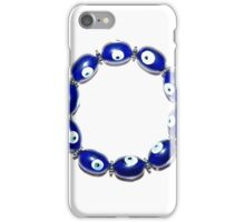 A bracelet with magic eyes used to ward off the evil eye and spirits iPhone Case/Skin