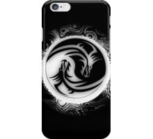 Yin and Yang Dragons Black and White iPhone Case/Skin
