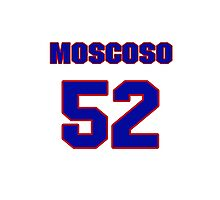 National baseball player Guillermo Moscoso jersey 52 Photographic Print