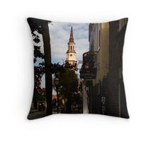 Church Street View, Charleston, SC Throw Pillow