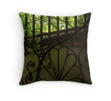Garden Gate, Charleston, SC Throw Pillow