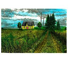 The Yellow Farmhouse - www.jbjon.com Photographic Print