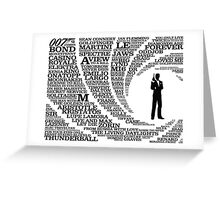 Iconic James Bond Typography Art Greeting Card
