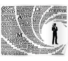 Iconic James Bond Typography Art Poster