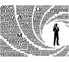 Iconic James Bond Typography Art Photographic Print