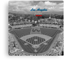 Los Angeles Home of Baseball Fever Canvas Print