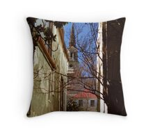 Charleston Alley View Throw Pillow