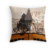 Queen Street Gas Lamp #3 Throw Pillow