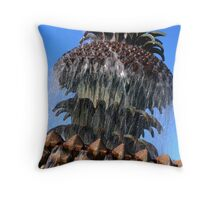 Pineapple Fountain #2, Charleston, SC Throw Pillow