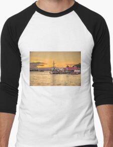 Oban Sunset  Men's Baseball ¾ T-Shirt
