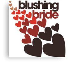 Blushing bride Canvas Print