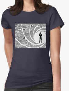 Iconic James Bond Typography Art Womens Fitted T-Shirt