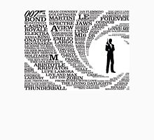 Iconic James Bond Typography Art Unisex T-Shirt